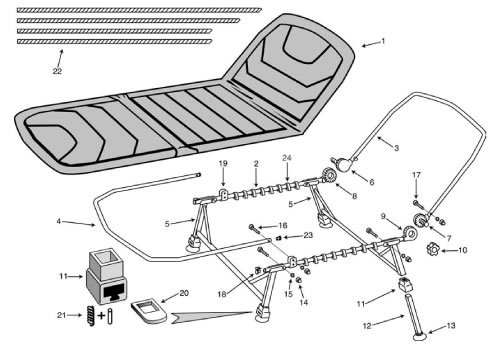 Fox-Stalker-bedchair-parts